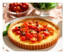Quiche de Queijo e Tomate Cereja