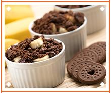 Torta Crocante Banana e Chocolate